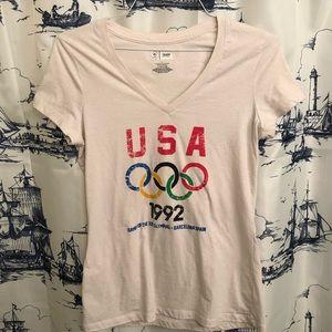 USA Olympics V Neck 1992 Barcelona Shirt L